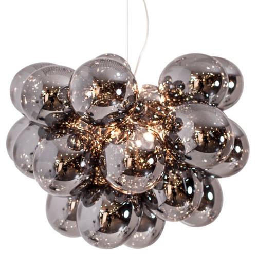 Gross Grande Smoke Glass Beads Modern Pendant Chandelier