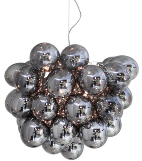 Gross Grey Glass Beads Modern Pendant Light