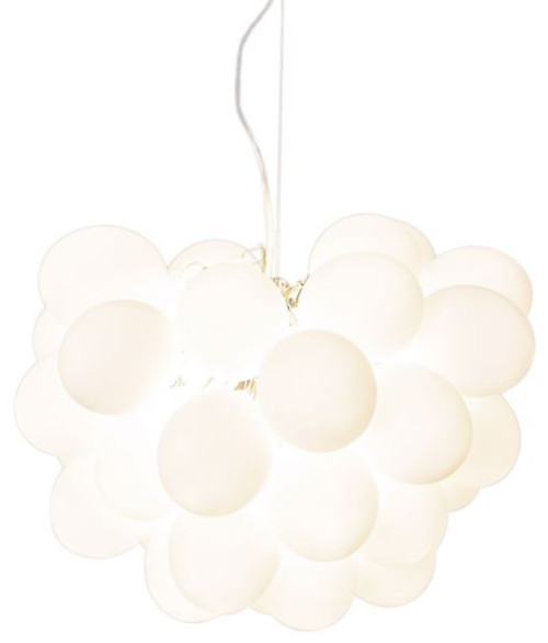 Gross White Glass Beads Modern Pendant Chandelier