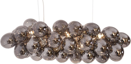 Gross Bar Smoke Glass Beads Modern Pendant Chandelier