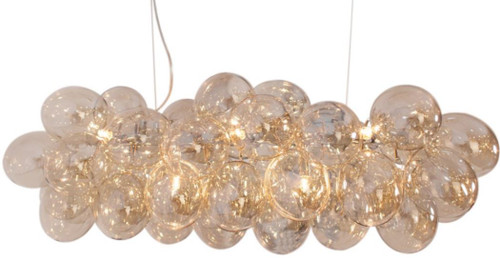 Gross Bar Amber Glass Beads Modern Pendant Chandelier