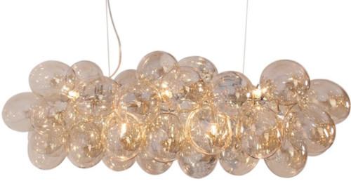 Gross Bar Amber Glass Beads Modern Pendant Chandelier