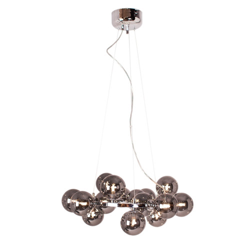 Splendor Round Chrome Modern Pendant Light