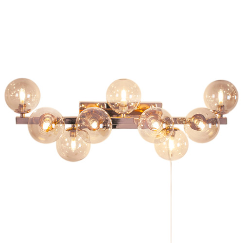 Splendor 9 Light Amber Bubble Wall Lamp
