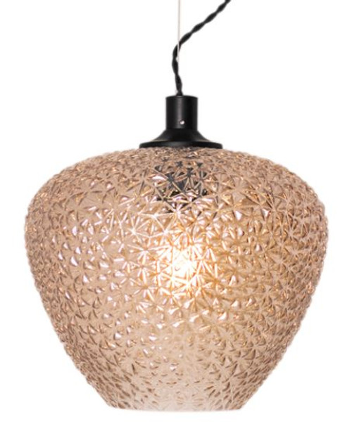Mabeo Patterned Amber Glass Pendant Light