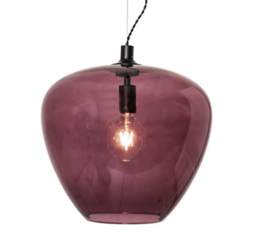 Bellissimo Grande Burgundy Red Glass Pendant Light