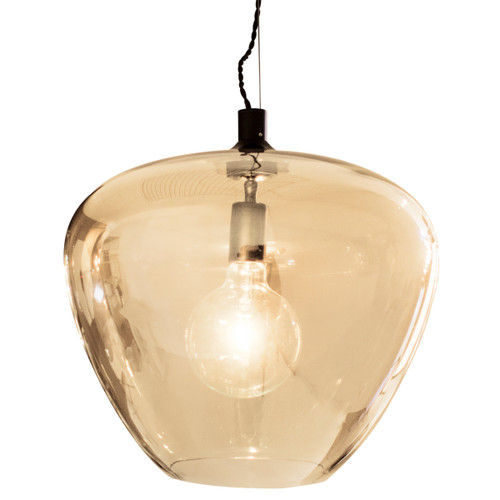 Bellissimo Grande Amber Glass Pendant Light