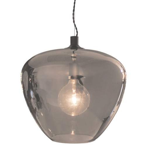 Bellissimo Grande Smoke Glass Pendant Light