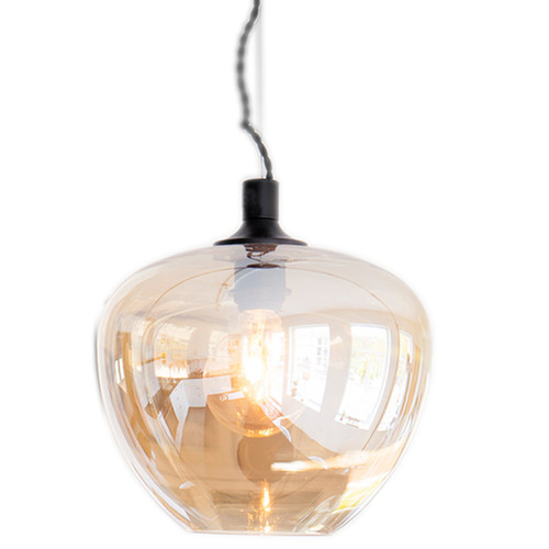 Bellissimo Amber Glass Pendant Light