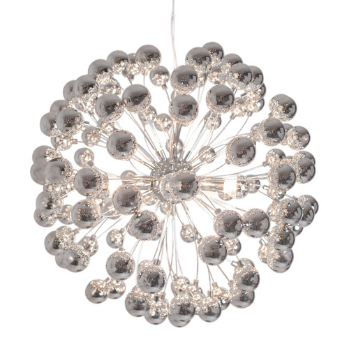 Carroll Round Chrome Pendant Light