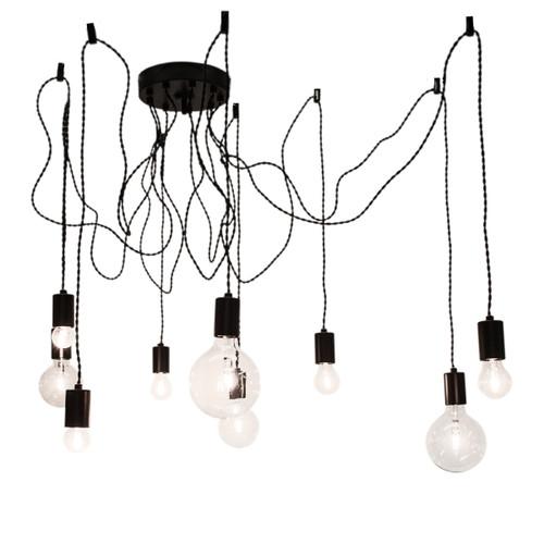 Spindelon Braided Cluster Industrial Pendant Light