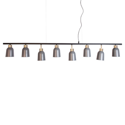 Lemur Grey and Gold Linear Modern Pendant Light