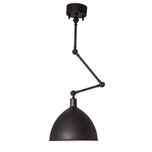 Bazar Black Adjustable Arm Industrial Pendant Light