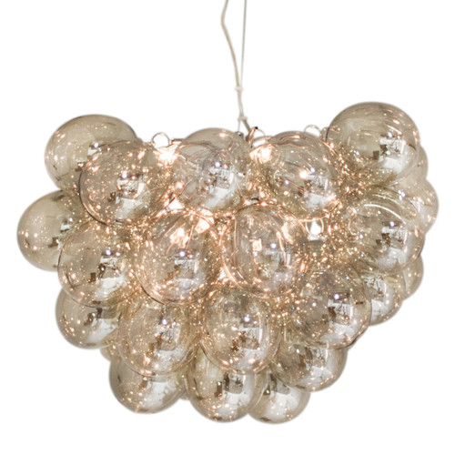 Gross Amber Glass Beads Modern Pendant Chandelier