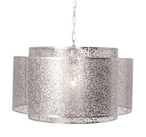 Mesh Grande Silver Moroccan Pendant Light