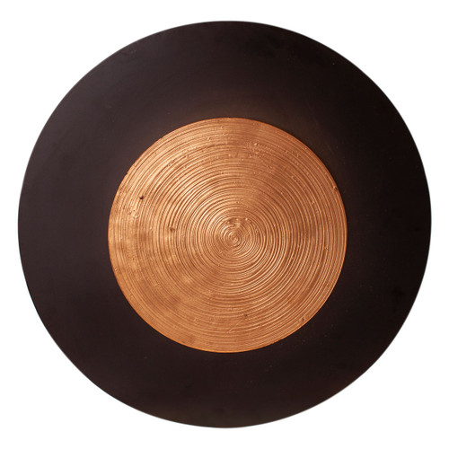 Nitra Disc Black and Gold Wall Light