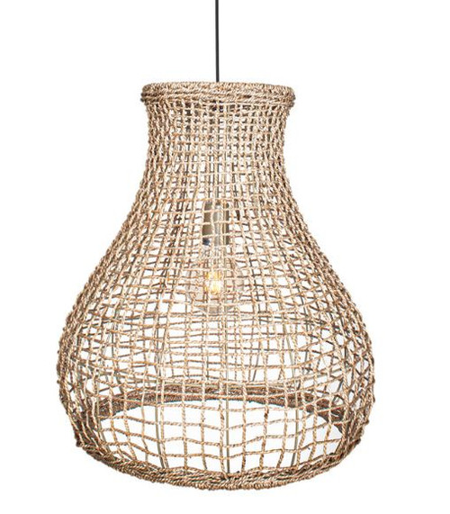 Seagrass Woven Natural Pendant Light