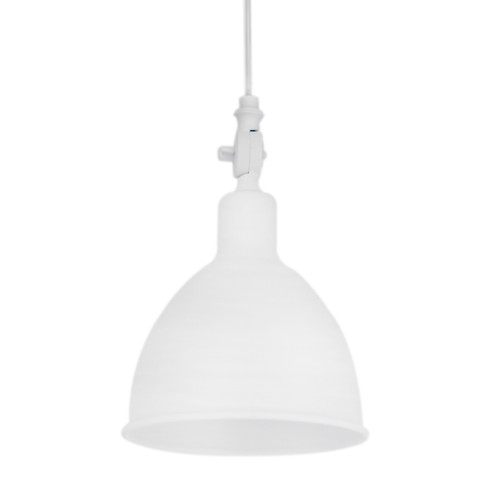 Bazar Small White Industrial Window Pendant Light