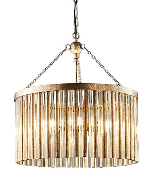 Midtown Drum Antique Silver Drum Pendant Light