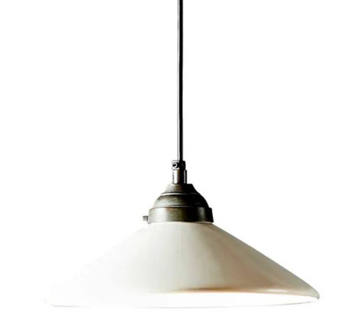 Mona Ceramic Cone White Pendant Light