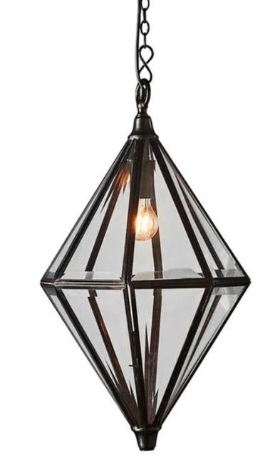 Cliff Antique Bronze Diamond Pendant Light