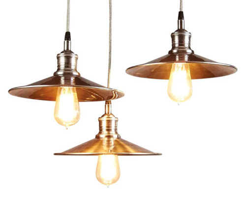 Mandi Antique Silver Industrial Pendant Light