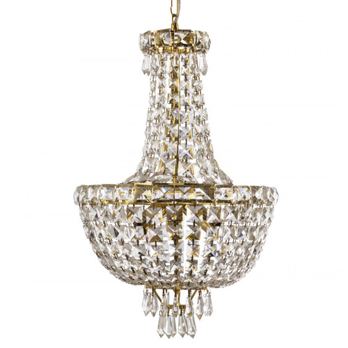 Olivia 5 Light Crystal Gold Chandelier