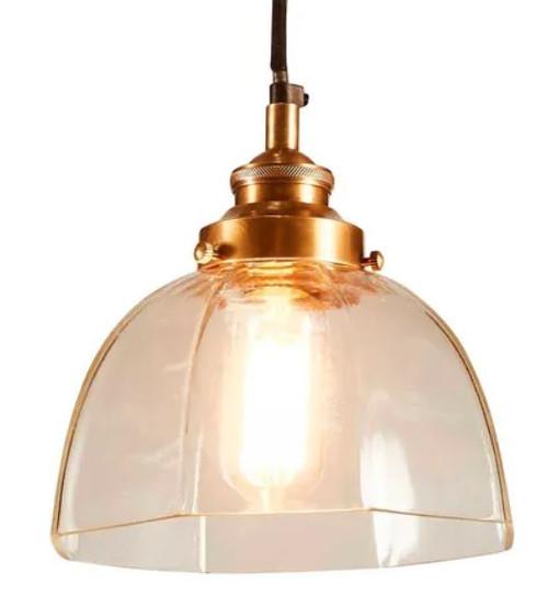 Helena Classic Antique Brass Pendant Light