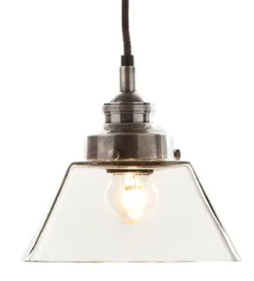 Kenneth Vintage Glass Pendant Light