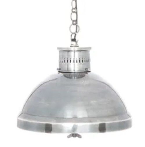 Mandy Hand Polished Silver Pendant Light