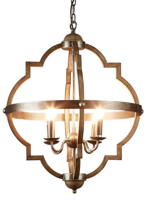 Royal Art Deco Black Iron Pendant Light - Large