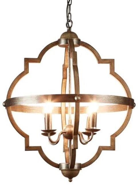 Royal Art Deco Steel Grey Pendant Light - Large