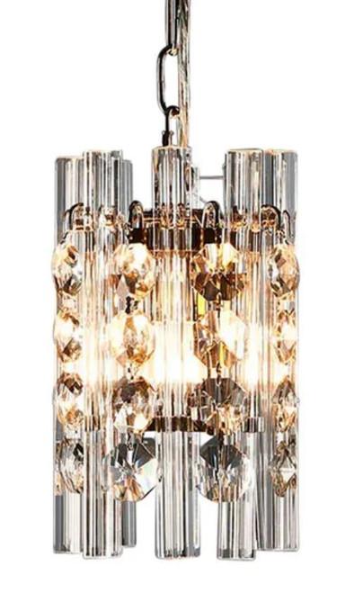 Monique Cylinder Nickel Pendant Light