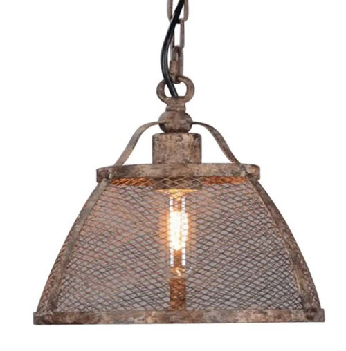 Sorrento Brown Rustic Pendant Light - Large