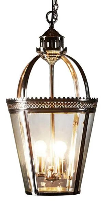 Plymouth Small Basket Antique Glass Pendant Light