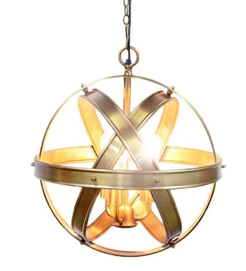 Philip Orb Antique Brass Pendant Light