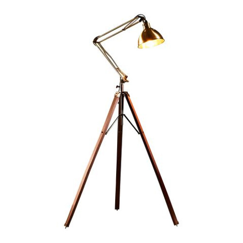 Marcus Dome Shade Adjsutable Antique Brass Floor Lamp