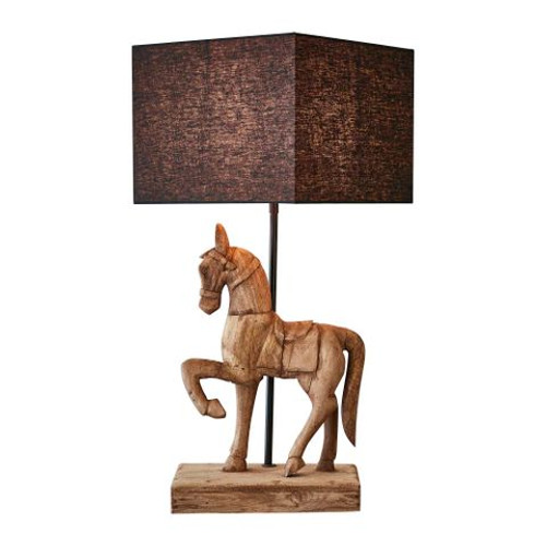 Caldwell Wooden Horse Table Lamp - Large