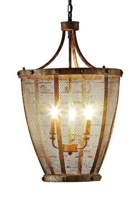 Canterbury Brown Rustic Pendant Light