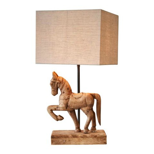 Caldwell Wooden Horse Table Lamp - Small