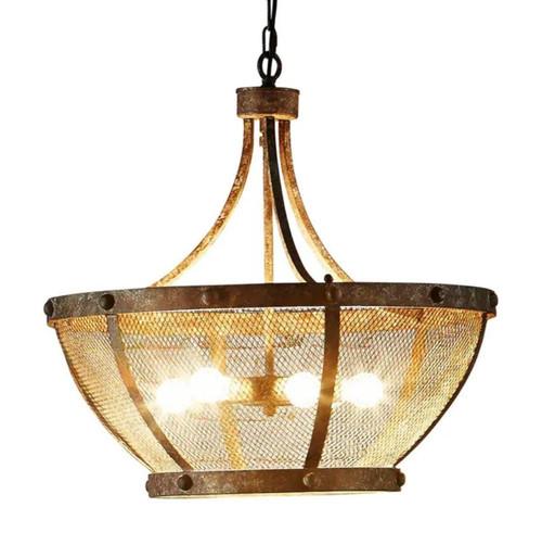 Mesina Basket Rustic Pendant Light