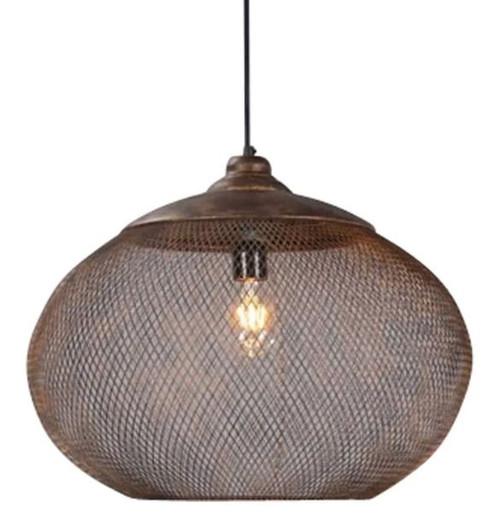 Trento Round Rustic Pendant Light - Large