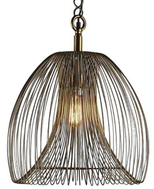 Blake Wired Iron Pendant Light - Large