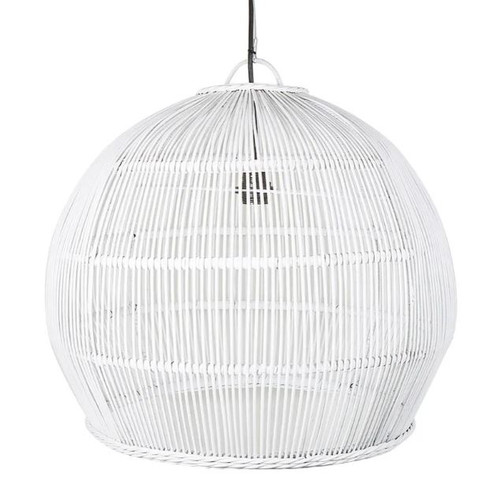 Cornelius White Rattan Pendant Light