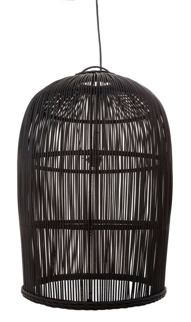 Warrenton Black Rattan Pendant Light