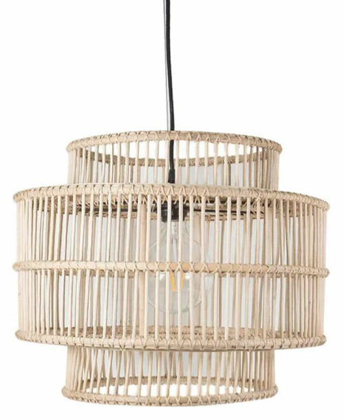 Bahamas Rattan Drum Pendant Light