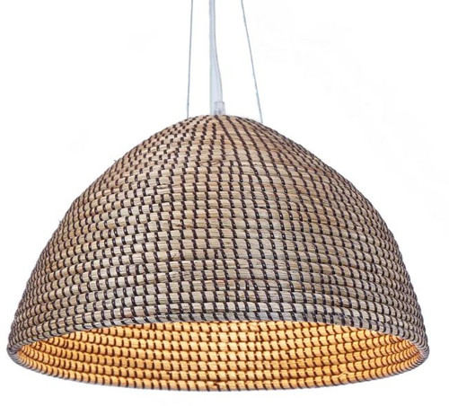 Belluno Brown Dome Pendant Light