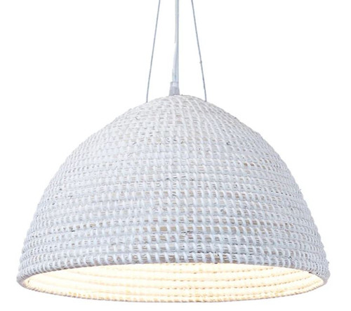 Belluno White Dome Pendant Light