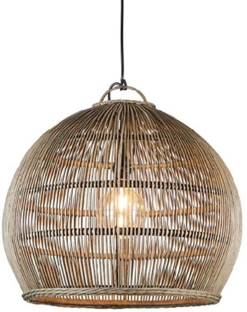 Cornelius Rattan Bell Pendant Light