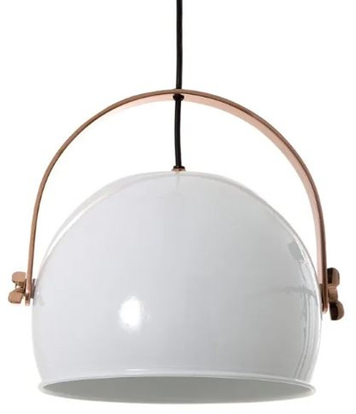 Hubbard White Dome Pendant Light